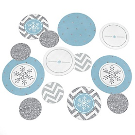 Winter Wonderland - Snowflake Holiday Party & Winter Wedding Table Confetti - 27 ct