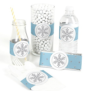 Winter Wonderland - DIY Snowflake Holiday Party & Winter Wedding Wrapper - 15 ct