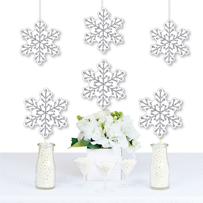 Winter Wonderland - Snowflake Decorations DIY Snowflake Holiday Party & Winter Wedding Essentials - Set of 20