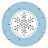 Winter Wonderland - Snowflake Holiday Party & Winter Wedding Sticker Labels - 24 ct