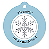 Winter Wonderland - Snowflake Holiday Party & Winter Wedding Tags - 20 ct