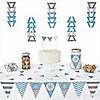 Winter Wonderland -  Triangle Snowflake Holiday Party & Winter Wedding Decoration Kit - 72 Piece