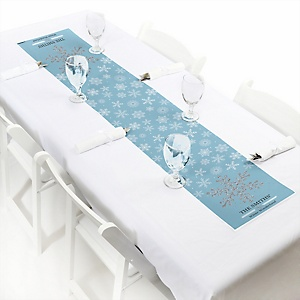 "Winter Wonderland - Personalized Petite Snowflake Holiday Party & Winter Wedding Table Runner - 12"" x 60"""
