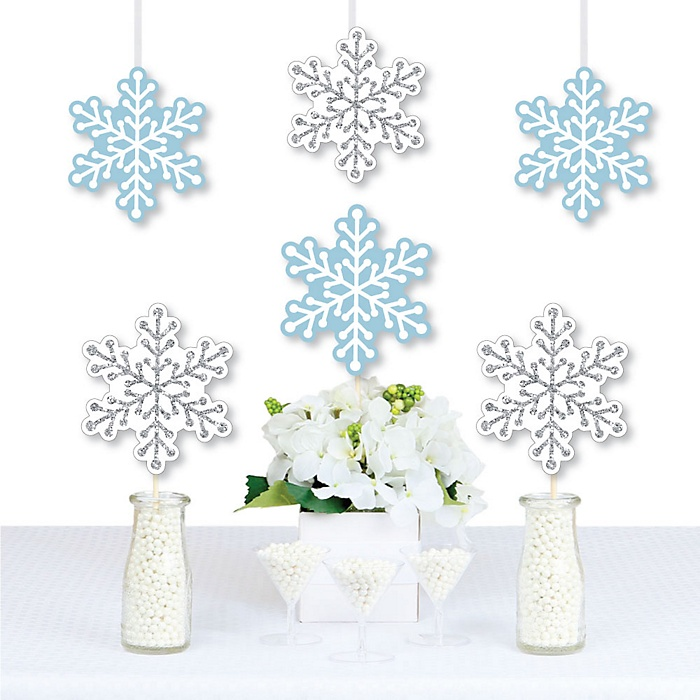 Winter Wonderland - Snowflake Decorations DIY Snowflake Holiday Party & Winter Wedding Essentials - Set of 20