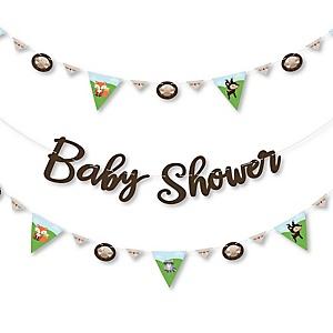 Woodland Creatures - Baby Shower Letter Banner Decoration - 36 Banner Cutouts and Baby Shower Banner Letters