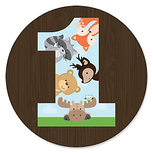 1st Birthday Woodland Creatures - First Birthday Party Theme