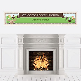 Woodland Creatures - Personalized Party Banners