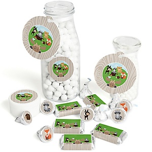 Woodland Creatures - Baby Shower or Birthday Party Decorations Favor Kit - Party Stickers & Tags - 172 pcs