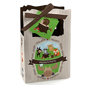 Woodland Creatures - Personalized Party Favor Boxes - Set of 12