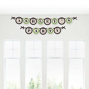 Woodland Creatures - Personalized Party Garland Letter Banners
