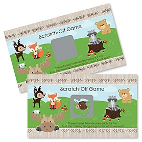 Woodland Creatures - Party Game Scratch Off Cards - 22 ct