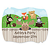 Woodland Creatures - Personalized Party Squiggle Stickers - 16 ct