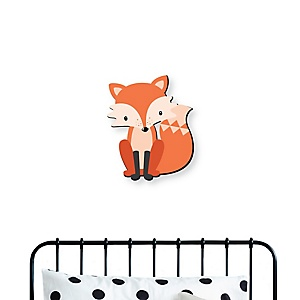 Woodland Creatures - Fox Nursery and Kids Room Home Decorations - Shaped Wall Art - 1 Piece