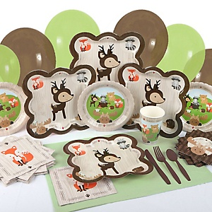 Woodland Creatures - Baby Shower Tableware