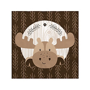 Woodland Creatures - Birthday Party Beverage Napkins - 16 ct