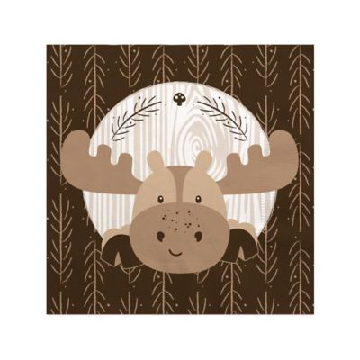 Woodland Creatures   Baby Shower Beverage Napkins   16 Ct