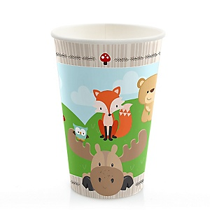 Woodland Creatures - Birthday Party Hot/Cold Cups - 8 ct