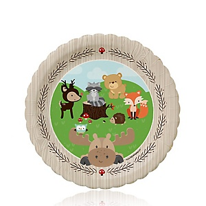 Woodland Creatures - Birthday Party Dessert Plates - 8 ct