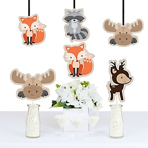 Woodland Creatures - Animal Shaped Decorations - DIY Baby Shower or Birthday Party Essentials - Set of 20