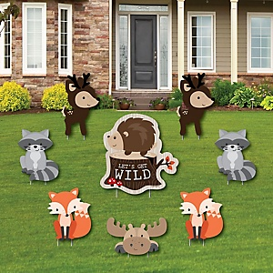Woodland Creatures - Yard Sign & Outdoor Lawn Decorations - Baby Shower or Birthday Party Yard Signs - Set of 8
