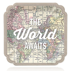 World Awaits - Travel Themed Party Dinner Plates - 16 ct