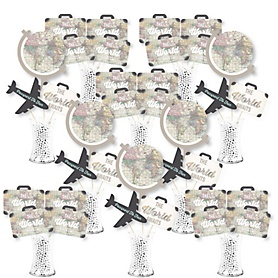 World Awaits - Travel Themed Party Centerpiece Sticks - Showstopper Table Toppers - 35 Pieces