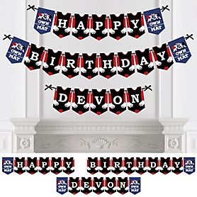 Own The Mat - Wrestling - Personalized Birthday Party Bunting Banner & Decorations