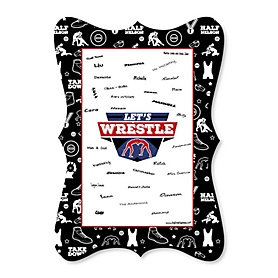 Own The Mat - Wrestling - Unique Alternative Guest Book - Birthday Party or Wrestler Party Signature Mat