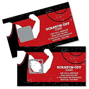 Own The Mat - Wrestling - Birthday Party or Wrestler Party Scratch Off Cards - 22 Count
