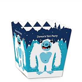 Yeti to Party - Party Mini Favor Boxes - Personalized Abominable Snowman Party or Birthday Party Treat Candy Boxes - Set of 12