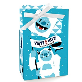 Yeti to Party - Personalized Abominable Snowman Party or Birthday Party Favor Boxes - Set of 12