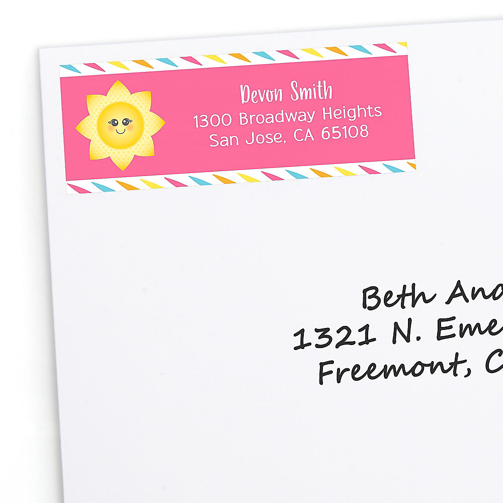 You Are My Sunshine Personalized Baby Shower Or Birthday Party Return Address Labels 30 Ct