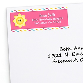 You Are My Sunshine - Personalized Baby Shower or Birthday Party Return Address Labels - 30 ct