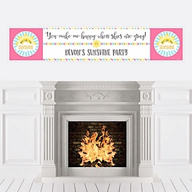 You Are My Sunshine - Personalized Baby Shower or Birthday Party Banners