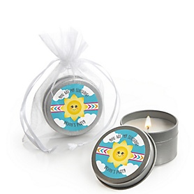 You Are My Sunshine - Personalized Baby Shower Candle Tin Favors - Set of 12