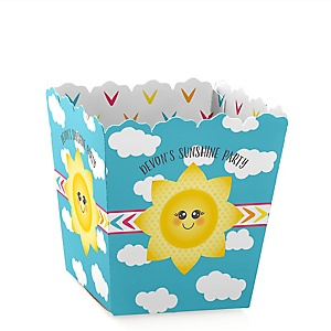 You Are My Sunshine - Party Mini Favor Boxes - Personalized Baby Shower or Birthday Party Treat Candy Boxes - Set of 12