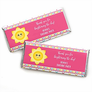 You Are My Sunshine - Personalized Candy Bar Wrappers Baby Shower or Birthday Party Favors - Set of 24