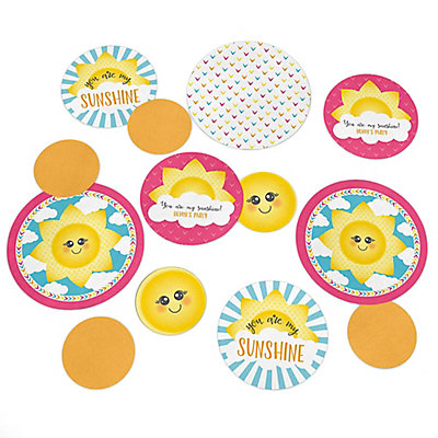 You Are My Sunshine   Personalized Baby Shower Or Birthday Party Giant  Circle Confetti   You Are My Sunshine Party Decorations   Large Confetti 27  Count