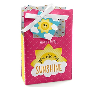 You Are My Sunshine - Personalized Baby Shower or Birthday Party Favor Boxes - Set of 12