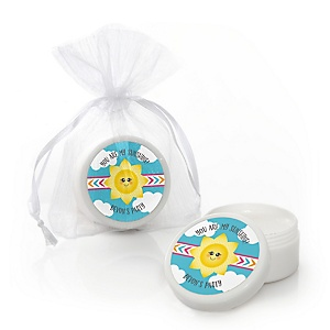 You Are My Sunshine - Personalized Baby Shower or Birthday Party Lip Balm Favors - Set of 12