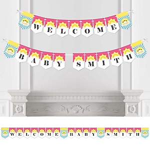 You Are My Sunshine - Personalized Baby Shower Bunting Banner & Decorations