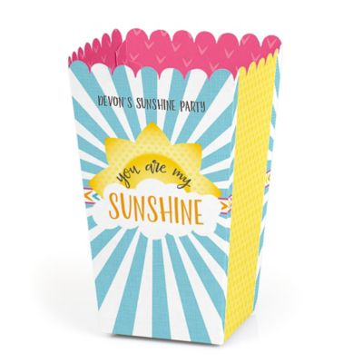 You Are My Sunshine   Personalized Baby Shower Or Birthday Party Popcorn  Favor Treat Boxes   Set Of 12
