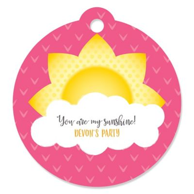 You Are My Sunshine   Round Personalized Baby Shower Or Birthday Party Tags    20 Ct