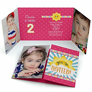 You Are My Sunshine - Personalized Birthday Party Photo Invitations - Set of 12