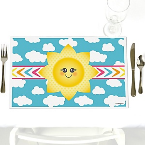 You Are My Sunshine - Party Table Decorations - Baby Shower or Birthday Party Placemats - Set of 12