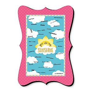 You Are My Sunshine - Unique Alternative Guest Book - Baby Shower or Birthday Party Signature Mat