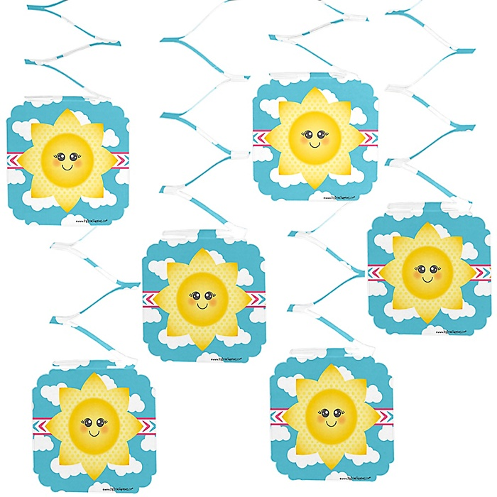You Are My Sunshine - Baby Shower or Birthday Party Hanging Decorations - 6 ct
