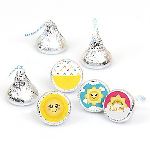 You Are My Sunshine - Baby Shower or Birthday Party Round Candy Labels Party Favors - Fits Hershey's Kisses - 108 ct