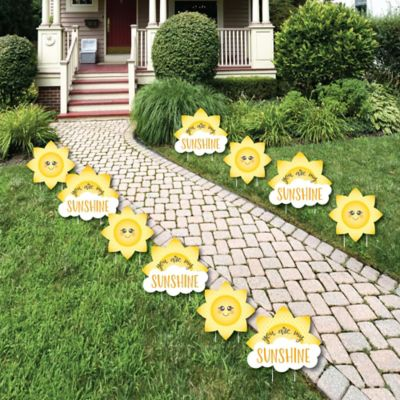 You Are My Sunshine Sun and Cloud Lawn Decorations Outdoor Baby