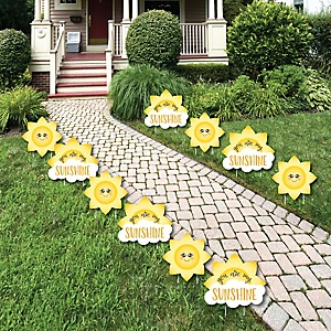 You Are My Sunshine Sun And Cloud Lawn Decorations Outdoor Baby Shower Or Birthday